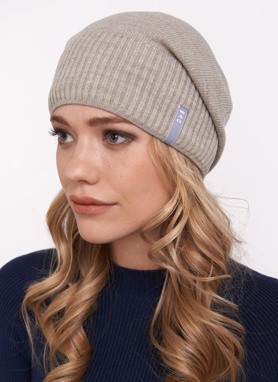 Молодежные вязаные шапки фото